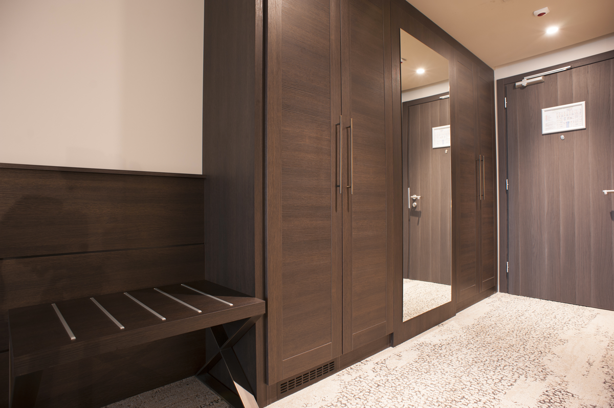 custom-made furnishings for a hotel suite