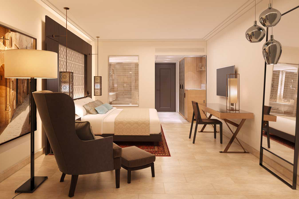 Tel Aviv Hotel Suites with dark durmast furniture